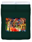 New Orleans Jive Duvet Cover