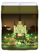 New Orleans Night Photo - Saint Louis Cathedral Duvet Cover