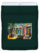 New Orleans Plain And Fancy Duvet Cover