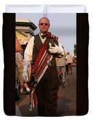 New Orleans Second Line Band Conductor Duvet Cover