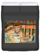 New Orleans Street Musician Duvet Cover
