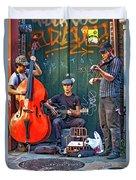 New Orleans Street Musicians Duvet Cover