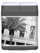New Orleans Windows - Black And White Duvet Cover