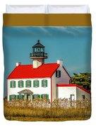 New Paint On East Point Lighthouse Duvet Cover