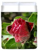 New Red Hibiscus Duvet Cover