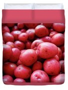 New Red Potatoes For Sale In A Market Duvet Cover