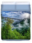 New River Gorge Bridge Morning  Duvet Cover