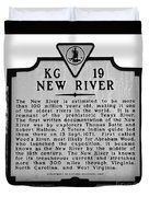 New River Historical Marker Duvet Cover