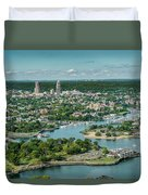New Rochelle From The Long Island Sound Duvet Cover