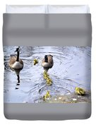 New Spring Baby Geese Duvet Cover