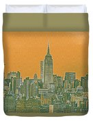 New Tork City Ny Travel Poster 4 Duvet Cover