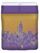 New Tork City Ny Travel Poster 5 Duvet Cover