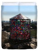 Stained Glass Water Tower In Milwaukee Duvet Cover