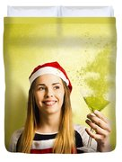 New Year Christmas Party Duvet Cover