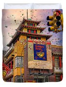 New Year In Chinatown Duvet Cover
