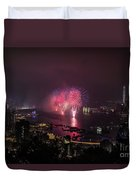 New Year's Eve Fireworks  Duvet Cover