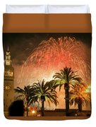 New Years Fireworks Finale San Francisco Duvet Cover