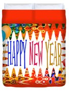 New Year's Greetings Duvet Cover
