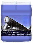 New York 20th Century Limited Train  1938 Duvet Cover