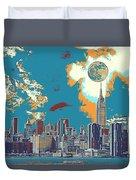 New York America  Skyline - Manhattan Duvet Cover