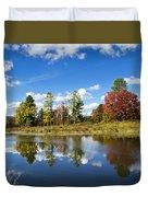New York Autumn Landscape Duvet Cover