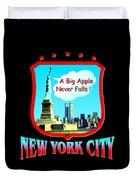 New York Big Apple Design Duvet Cover