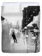 New York: Blizzard Of 1888 Duvet Cover