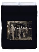 New York: Bread Line, 1907 Duvet Cover