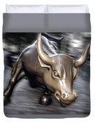 New York Bull Of Wall Street Duvet Cover