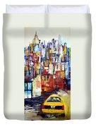 New York Cab Duvet Cover