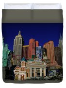 New York Casino At Night Duvet Cover