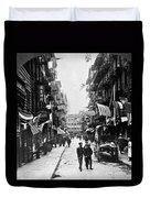 New York : Chinatown, 1909 Duvet Cover
