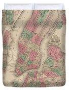 New York City, Brooklyn, Jersey City, Hoboken Duvet Cover