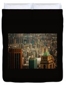 New York City Buildings And Skyline Duvet Cover