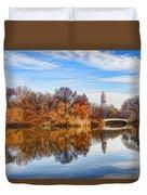 New York City Central Park Bow Bridge - Impressions Of Manhattan Duvet Cover
