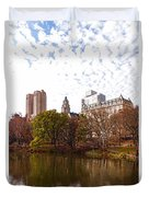 New York City Central Park Living - Impressions Of Manhattan Duvet Cover