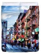 New York City Chinatown Duvet Cover