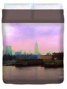 New York City From Hoboken Duvet Cover