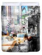 New York City Geometric Mix No. 9 Duvet Cover by Melanie Viola