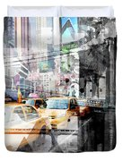 New York City Geometric Mix No. 9 Duvet Cover