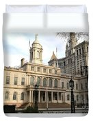 New York City Hall Duvet Cover