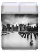 New York City In Black And White Duvet Cover