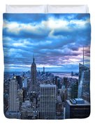New York City Looking South Duvet Cover