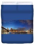 New York City Manhattan Skyline Panorama Duvet Cover