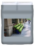 New York City Market Duvet Cover by Frank Romeo