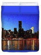 New York City Night Lights Duvet Cover