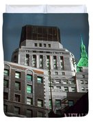 New York City Poster - Wall Street Duvet Cover
