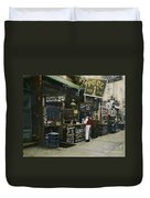 New York City Restaurant Duvet Cover