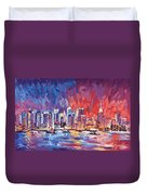 New York City Skyline 02 Duvet Cover