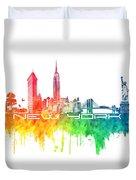 New York City Skyline Color Duvet Cover